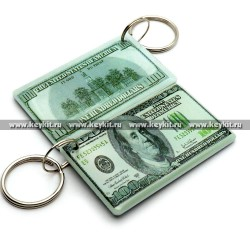 "Мини карта Epoxy ""банкнота 100 $ USD"" 50*30 мм"